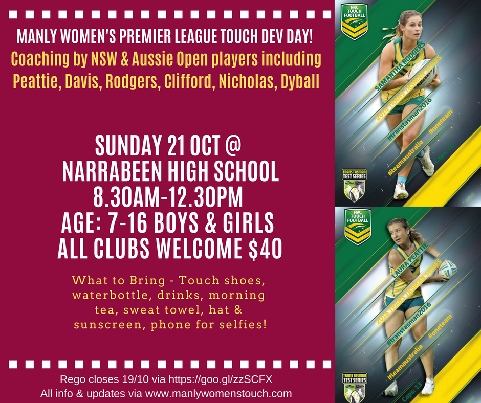 Manly Women's Touch Dev Day Promo 1