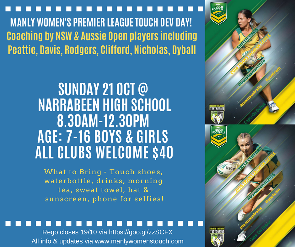 Manly Women's Touch Dev Day Promo 2