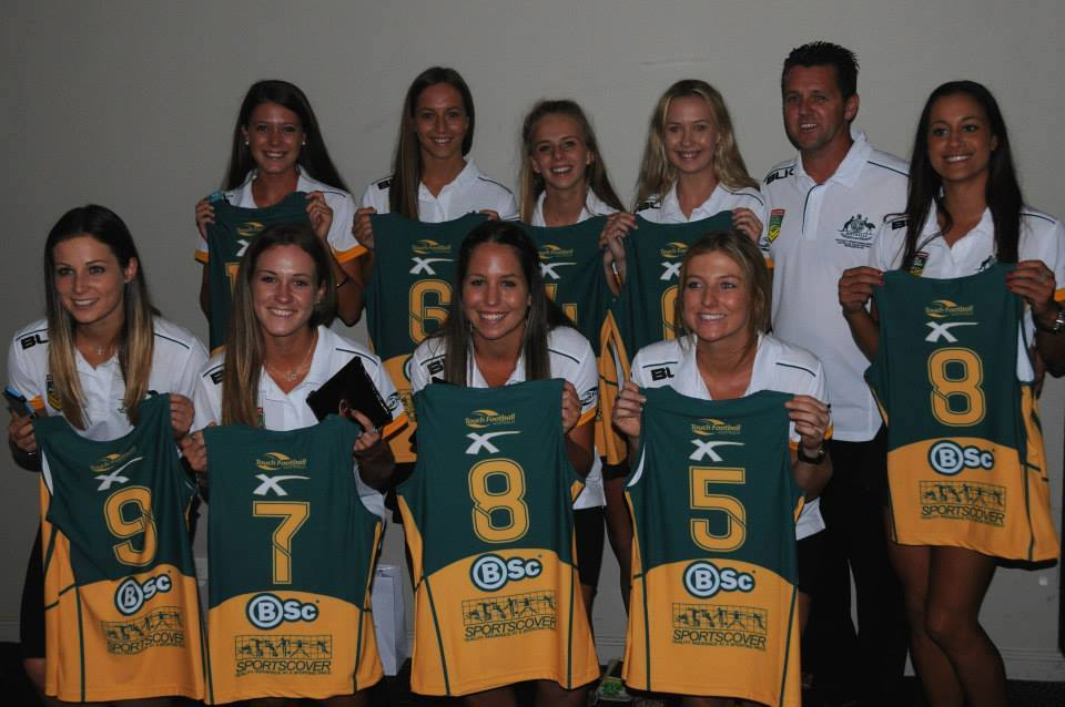 Manly girls jersey presentation